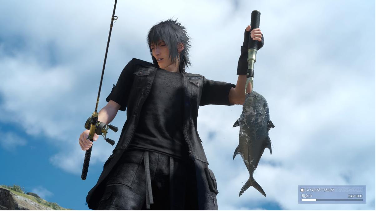 【FF15】これ主人公だけ少年にして「川のぬし釣り」として出せばそこそこヒットしそう