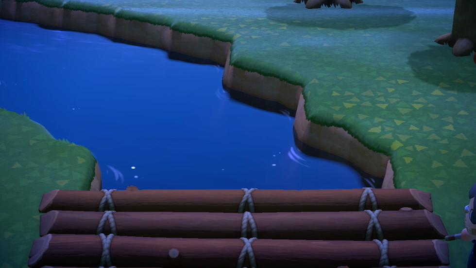 崖 飛び越える あつ森